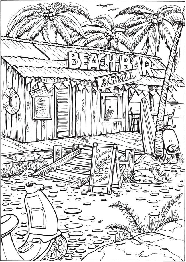 The top 23 Ideas About Beach Coloring Pages for Adults ...