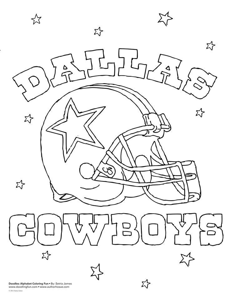 The top 30 Ideas About Dallas Cowboys Coloring Book - Home ...
