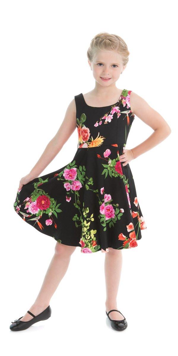 Kids Swing Dresses Kids Vintage Floral Print Swing Dress – Rock Frocks