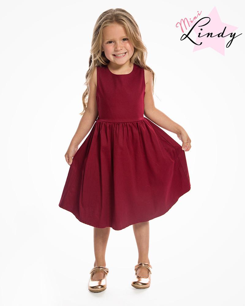 Kids Swing Dresses Mini Audrey Children s Burgundy Swing Dress