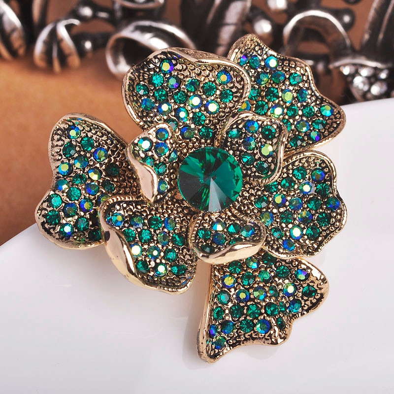 Pins Jewelry Vintage Wedding Brooch For Women Rhinestone Crystal