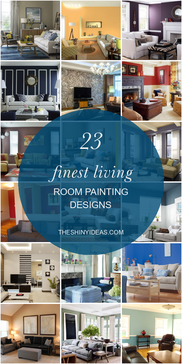23 Finest Living Room Painting Designs